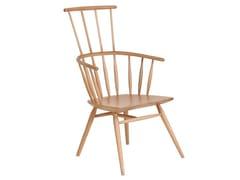 Sedia in legno con schienale alto ESKI | Sedia con schienale alto -