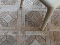 Pavimento in marmo effetto legno ESSENCE - QUADROTTA 1 - Acquaforte
