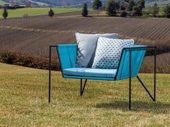 Poltrona da giardino in metallo con braccioliESSENTIAL | Poltrona da giardino con braccioli - BRAID COMPANY