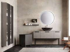Mobile lavabo da terra in legno con specchioESSENZE 05 - ARCHEDA