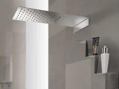 Soffione doccia a muro in acciaio inox con 2 getti con cromoterapiaESTANTE | Soffione doccia - TECH RAIN