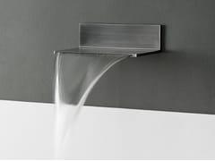 Bocca di erogazione a cascata in acciaio inox a muroMINI ESTANTE - TECH RAIN