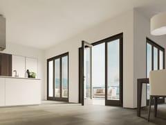Porta-finestra a battente in alluminio e legnoETERNA ALASKA - BG LEGNO