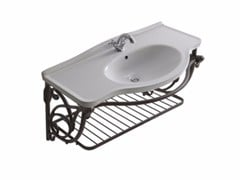 Mobile lavabo sospeso in alluminio ETHOS 110 | Mobile lavabo in alluminio - Ethos