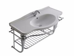 Mobile lavabo sospeso in ottone cromato ETHOS 110 | Mobile lavabo sospeso - Ethos