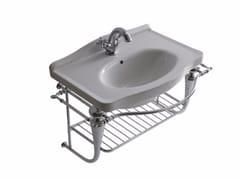 Mobile lavabo singolo sospeso in ottone cromato ETHOS 65 | Mobile lavabo sospeso - Ethos