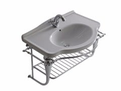 Mobile lavabo sospeso in ottone cromato ETHOS 75 | Mobile lavabo sospeso - Ethos