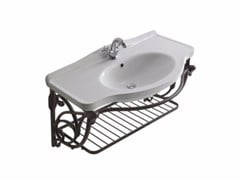 Mobile lavabo singolo sospeso in alluminio ETHOS 95 | Mobile lavabo in alluminio - Ethos