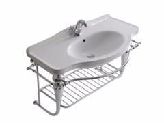 Mobile lavabo sospeso in ottone cromato ETHOS 95 | Mobile lavabo sospeso - Ethos