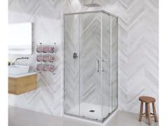 Flair Showers, ETO CORNER ENTRY Box doccia angolare in vetro con porta scorrevole