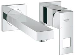 Miscelatore per lavabo a muro EUROCUBE | Miscelatore per lavabo a 2 fori - Eurocube