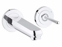 Miscelatore per lavabo a 2 fori monocomando con limitatore di portata EURODISC JOY SIZE S | Miscelatore per lavabo a muro - Eurodisc Joy