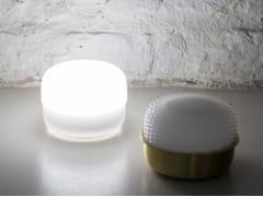 Lampada da tavolo a LED in gel poliuretanico con ricarica USB senza filiEVA - GEELLI BY C.S.