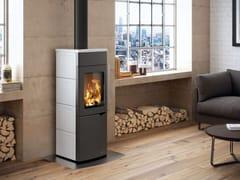Stufa a legna per riscaldamento aria classe AEVA S - PALAZZETTI LELIO