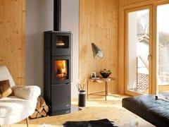 Stufa a legna per riscaldamento aria classe AEVA S CON FORNO - PALAZZETTI LELIO
