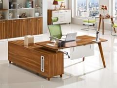Scrivania ad angolo in legno con scaffale integratoEVOLUTIO A609 | Scrivania con scaffale integrato - ARREDIORG
