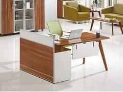 Scrivania ad angolo in legno con scaffale integratoEVOLUTIO A909 - ARREDIORG