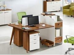 Scrivania operativa in legno con scaffale integratoEVOLUTIO B305 - ARREDIORG