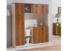 Mobile ufficio alto in legno con ante a battenteEVOLUTIO C408 - ARREDIORG