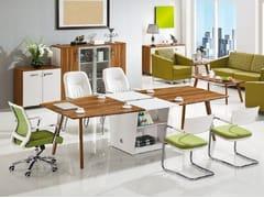 Tavolo da riunione in legno con sistema passacaviEVOLUTIO | Tavolo da riunione con sistema passacavi - ARREDIORG