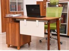 Scrivania operativa in legno con scaffale integratoEVOLUTIO | Scrivania con scaffale integrato - ARREDIORG