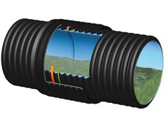 Giunzione bentonitica per tubi corrugati fognaturaEXPANDER - ITALIANA CORRUGATI
