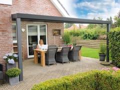Gardendreams, EXPERT PLUS EDITION Pergolato in alluminio con copertura in vetro