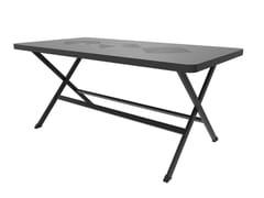 Tavolo da giardino pieghevole rettangolare in alluminioEXI   Tavolo - UNOPIÙ