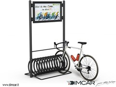 DIMCAR, Portabici Elix Display Portabici in metallo
