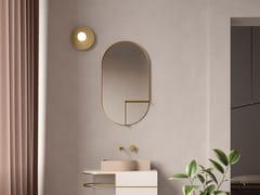 Archiproducts.com, Ex.t - NOUVEAU SHELF Specchio ovale in ottone con mensola da parete