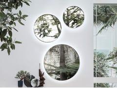 Specchio rotondo in acciaio inox a parete con illuminazione integrataFACE TO FACE - ALIVAR