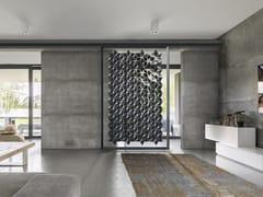 Divisorio sospeso in acciaio inox in stile modernoFACET Divisorio Pensile 170x258 - BLOOMMING