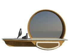 Mobile da ingresso laccato in rovere e ecopelle con specchioFAI | Mobile ingresso M04 - 2K1M