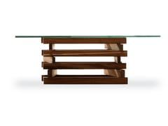 FALÒ SMALL   Tavolino in legno e vetro