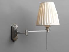Lampada da parete a luce diretta e indiretta in ottone con braccio flessibileFARETTO QUADRO | Lampada da parete con braccio flessibile - OFFICINACIANI DI CATERINA CIANI & CO.