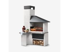 Barbecue a carbonella a legna in cementoFARO NEW - PALAZZETTI LELIO