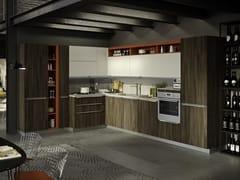 Cucina componibile con maniglie integrate FEEL ROVERE HAVANA - EVERYONE
