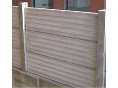 Lastra in cemento per recinzioniLASTRA DI RECINZIONE - CANTIERE TRI PLOK
