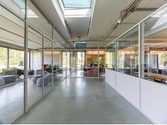 Parete mobile in vetro per ufficio FERROFINESTRA W40 | Parete mobile - FerroFinestra