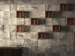 Rivestimento tridimensionale in pietra naturale e metalloFESSURA - ORVI DESIGN STUDIO