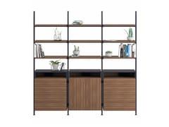 Libreria in metallo verniciato con cassetti con fissaggio pavimento-soffittoFIELD - ERSA MOBILYA