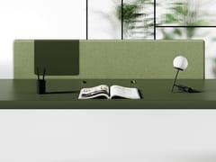 Pannello divisorio da scrivania fonoassorbente in tessutoFIL ROUGE | Pannello divisorio da scrivania - LAS MOBILI