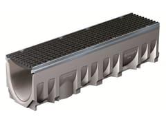 Elemento e canale di drenaggio in calcestruzzoFILCOTEN PRO 200/5 H290 BORDO ZINCATO | Elemento e canale di drenaggio - GREENPIPE