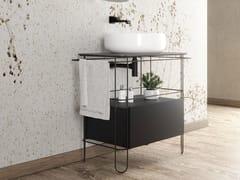 Mobile lavabo da terra con cassettiFILO 75 | Mobile lavabo con cassetti - CERAMICA FLAMINIA