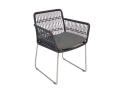 Sedia a slitta da giardino con braccioliFILO | Sedia con braccioli - FISCHER MÖBEL