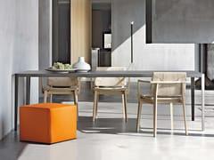 Tavolo rettangolare con piano in cementoFILO - LEMA