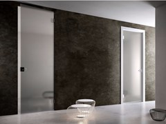 Porta a battente in vetro FILOMURO | Porta in vetro -
