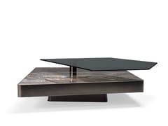 Tavolino basso in marmo e vetroFINAL CUT - ARKETIPO