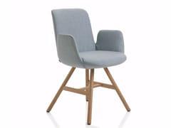 Sedia in tessuto con braccioli FIOR DI LOTO | Sedia con braccioli -