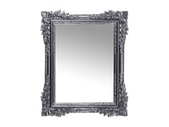 Specchio rettangolare da parete con cornice FIORE CHROME -